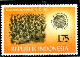 INDONESIE    N° 352     * *  Jeux Sportifs A Djakarta - Tiro Con L'Arco