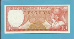 SURINAM - 10 GULDEN - 01.09.1963 - Pick 121 - UNC. - Wmk. Toucan's Head - 2 Scans - Suriname
