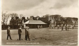 PHOTO CARD ENGLAND BOWLING GREEN WICK PLAYING FIELDS  LONDON ? I Don't Know - London
