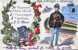 militaria 501eme regiment de CHARS LOURDS de moumelon 1922