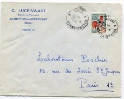 Convoyeur N°1955 DOUAI A VALENCIENNES Sur  Env. Du 05/06/1967 - Railway Post