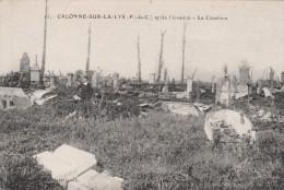 11 - Calonne Sur La Lys - Après L'invasion - Le Cimetiere - Pliure En Haut A Gauche - France