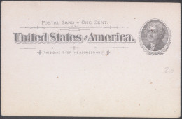 United States Old Postal Stationery 1c Postal Card Unused Bb - Interi Postali