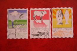 Landbouw ; NVPH 522-524; 1976 MNH / POSTFRIS NEDERLANDSE ANTILLEN / NIEDERL. ANTILLEN / NETHERLANDS ANTILLEN - Niederländische Antillen, Curaçao, Aruba