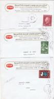 LA 164 - TUNISIE N° 486-561-570 Sur 3 Lettres De Tunis Pour La France - Tunesien (1956-...)