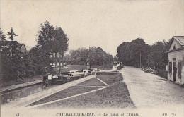 Péniches - Péniche Canal Ecluse De Chalons Sur Marne - Péniches