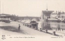 Bâteaux - Péniches - Péniche Romulus - Sens Pont Et Eglise - Précurseur - Editeur RM - Péniches