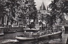 Péniches -  Péniche Amsterdam - Geldersekade Met Schreierstoren - Postmarked Hillegom 1959 - Péniches