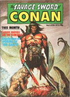 The SAVAGE SWORD Of CONAN # 6 - UK Magazine ( April 1978 ) - Marvel