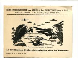 CP - PARIS (75) LIGUE INTERNATIONALE DES MERES ET DES EDUCATRICES POUR LA PIX - Arrondissement: 19