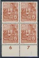 DDR Nr. 408 X I ** postfrisch Viererblock