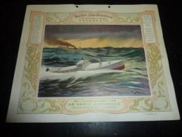 LA BELLE JARDINIERE VETEMENTS - ILLUSTRATION POUR CALENDRIER DE 1906 THEMATIQUE SPORT - LE CANOT AUTOMOBILE - Bateaux