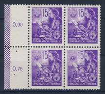DDR Nr. 368 X II ** postfrisch Viererblock