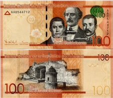 DOMINICAN REP.       100 Pesos Dominicanos      P-New       2014      UNC - Dominicaanse Republiek