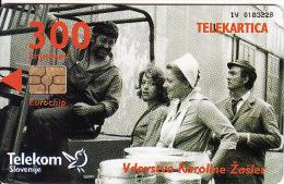 Slovenien, 300 Units Chip,film,catalogue Nr. 639,tirage 3999, + Slovenia Phonecards Catalogue - Slovenia