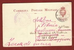 COLONIE ITLIANE - CARTOLINA POSTALE MILITARE TOBRUK CIRENAICA + OSPEDALE MILITARE TOBRUK - 1916 - Cirenaica