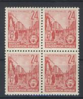 DDR Nr. 414 X I ** postfrisch Viererblock