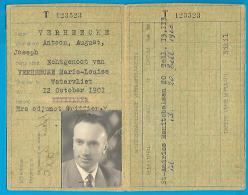 Indentiteitskaart - België St Andries 1952 - Antoon August Verheecke - Historische Documenten