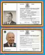 2 Dienstindentiteitskaart - België Brecht - Fredericus Van Der Smissen - Gemeenteraadlid - Historische Documenten