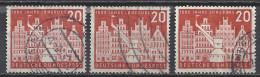 Deutschland BRD 1956 Mi 230 X3 20 Pfg. Gestempelt 1000 Jahre Lüneburg  Sc. 741 / Yv. 106 - Used Stamps