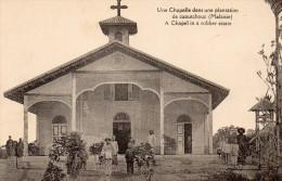 Cpa Une Chapelle Dans Une Plantation De Caoutchouc, Missionnaire, Enfants    (47.47) - Malaysia