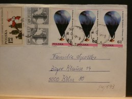 54/593  LETTRE  POLOGNE - Airships