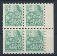 DDR Nr. 363 X I ** postfrisch Viererblock