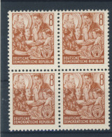 DDR Nr. 365 X II ** postfrisch Viererblock