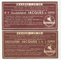 -1 Xwaardebon  Van 1,25 Frank. - ***N.V.  Chocolaterie. - JACQUES. *** - Chocolat