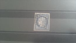 LOT 271655 TIMBRE DE FRANCE OBLITERE N�4 VALEUR 60 EUROS