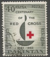 Pakistan. 1963 Red Cross Centenary. 40p Used. SG 187 - Pakistan