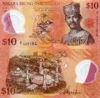 BRUNEI $10 NEW 2011  POLYMER UNC - Brunei