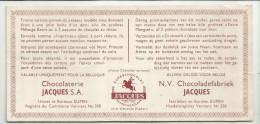 -1 X Premie Bon  . - ***N.V. Chocoladefabriek  JACQUES. *** - Chocolat