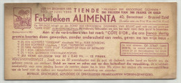 -1 X Premiekaart  . - ***CÔTE D'OR - Fabrieken ALIMENTA - 1935/1936. *** - Chocolat