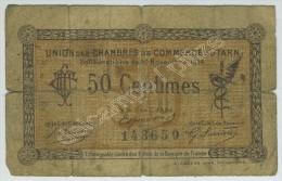 Union Des Chambres De Commerce Du Tarn. Bon De 50 Centimes N° 143650. - Chambre De Commerce