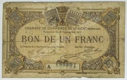 Chambre De Commerce De Lorient. Bon De 1 Franc 1915 N° 180501. - Chamber Of Commerce