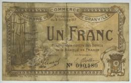 Chambre De Commerce De Granville Bon De 1 Franc 1917 N° 90180. - Chamber Of Commerce