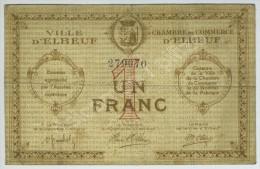 Chambre De Commerce D'Elbeuf. Bon De 1 Franc Sans Date N° 279070. - Chamber Of Commerce