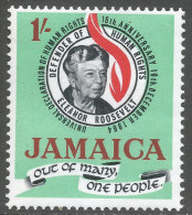 Jamaica. 1964 16th Anniv Of Declaration Of Human Rights. 1/- MH SG 239 - Jamaica (1962-...)