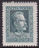 POLAND 1928 Pilsudski Fi 238 Mint Hinged - Ongebruikt