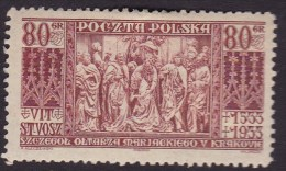 POLAND 1933 Wita Stwosza Fi 261 Mint Hinged - Ongebruikt