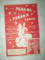 """PARTITION """"PANAME PANAMA SAMBA""""PIERRE MARSEILLE(cg) - Partitions Musicales Anciennes"""