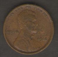 STATI UNITI ONE CENT 1916 - Emissioni Federali