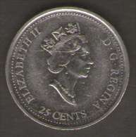 CANADA 25 CENTS 1999 DECEMBER - Canada