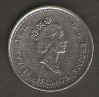 CANADA 25 CENTS 1999 OCTOBER - Canada