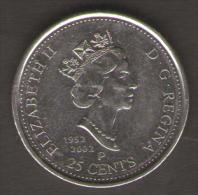 CANADA 25 CENTS 2002 - Canada