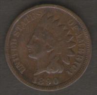 U.S.A. - STATI UNITI D' AMERICA - ONE CENT ( 1890 ) - INDIAN HEAD - 1859-1909: Indian Head