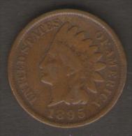 U.S.A. - STATI UNITI D' AMERICA - ONE CENT ( 1895 ) - INDIAN HEAD - 1859-1909: Indian Head