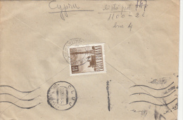 26939- RADIO TOWER, STAMP ON REGISTERED COVER, IRON FACTORY HEADER, 1968, ROMANIA - 1948-.... Republics