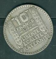 Piece 10 Francs Type Turin , Argent Silver, Année 1932  - Pia11708 - K. 10 Francs